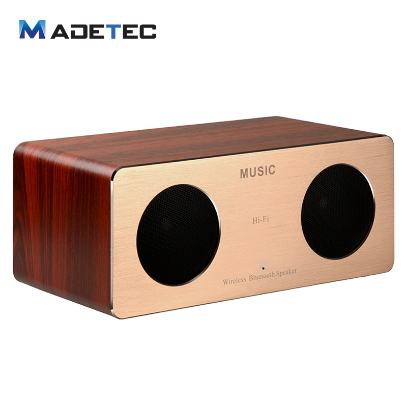 madetec hifi wooden bluetooth speaker 10w mini portable wood speaker box dual stereo loudspeaker. Black Bedroom Furniture Sets. Home Design Ideas