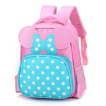hot deal buy children bags for girls cute children backpack kindergarten children school bags cartoon bow tie baby girl school backpack 645