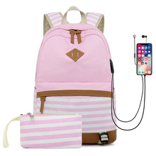 Hot Sale Canvas Backpack Women School Bags for Girls Large Capacity USB Charge 14 inch Laptop Backpack Travel Bags Rucksack high quality hot sale canvas backpack women school bags for girls large capacity usb charge men laptop backpacks