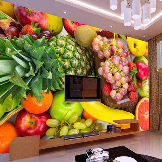 Superieur Aliexpress.com : Buy 3D Wall Mural Custom Photo Wallpaper ... Fruit  Wallpaper