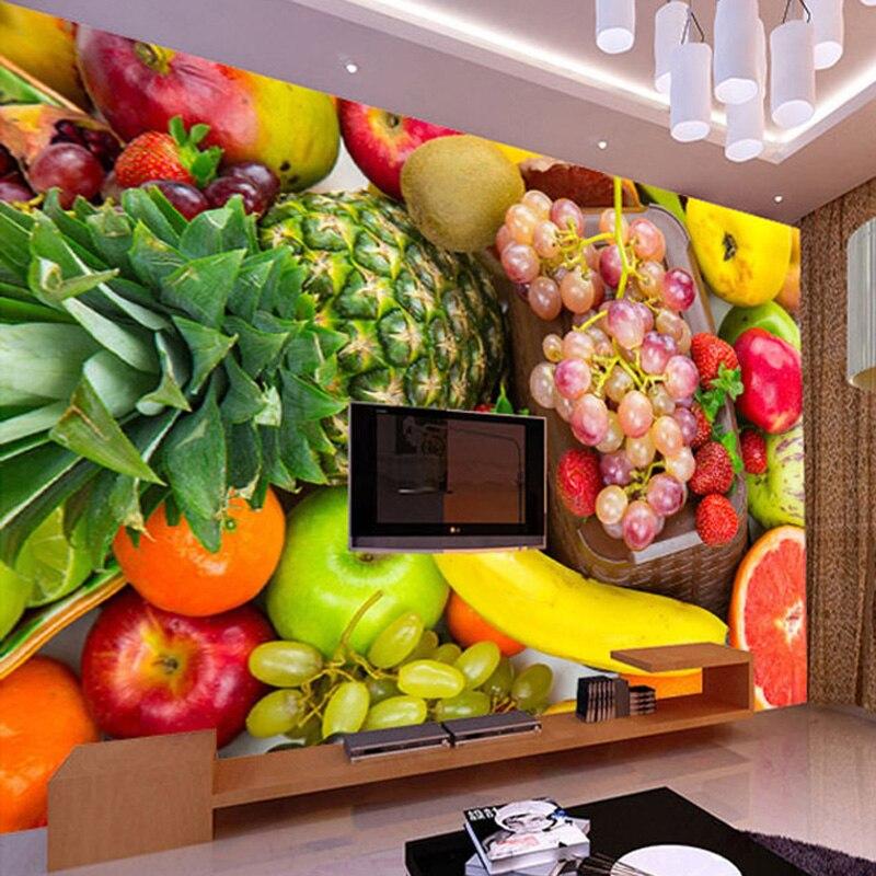 Kitchen Decor Vegetables: 3D Wall Mural Custom Wallpaper Kitchen Background Wall