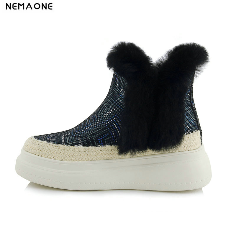 NemaoNe 2018 suede Leather Snow Boots Australia Style Classic Women Boots flat platform Women Shoes Warm Winter Boots цена