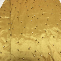 YJ!Beaded Sequined African George Lace Fabric With Blouse Stones For Women Dress Embroidery Lace Fabric ! L60706