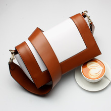2017 Brand new Women High Quality Ladies Two Straps handBag female Mixed Colors Split Leather Casual Mini Shoulder Messenger Bag