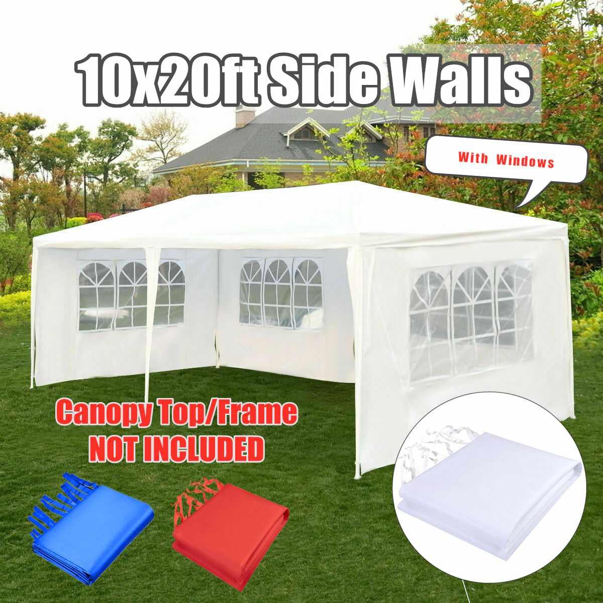 Oxford tissu fête tente avec côtés imperméable jardin Patio extérieur auvent 3x6 m soleil mur parasol abri bâche paroi latérale parasol
