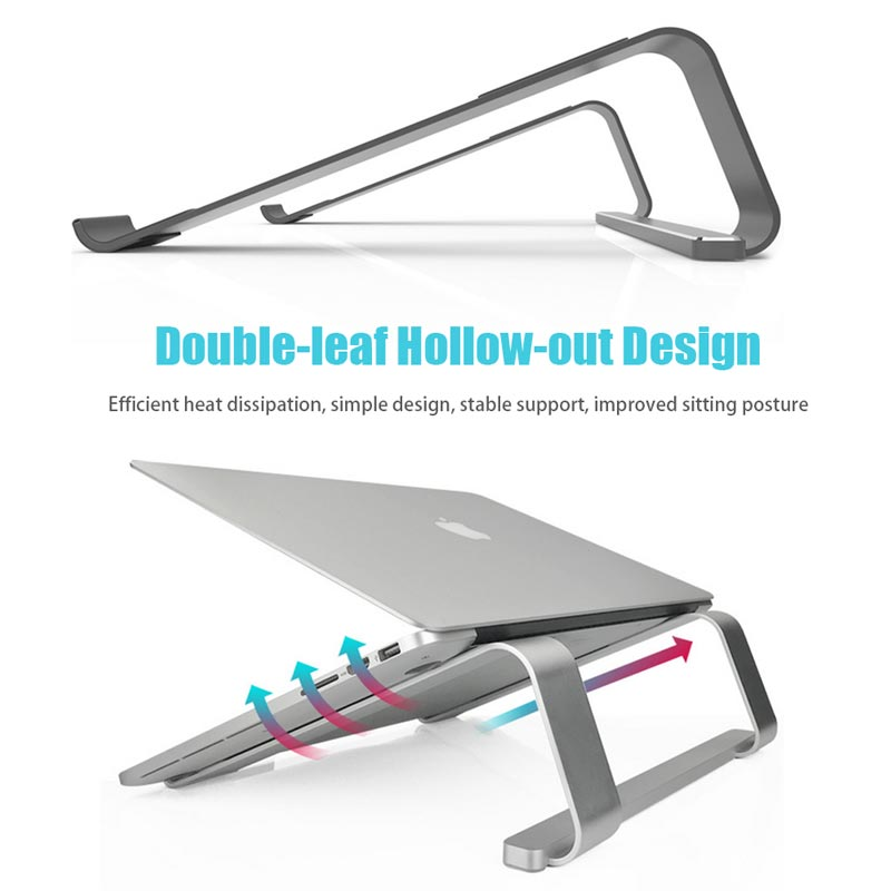 Image 4 - Metal Notebook Laptops Stand tablet Holder for MacBook Air For Dell Lenovo xiaomi New Laptop Holder Cooling pad For Notebook-in Laptop Stand from Automobiles & Motorcycles
