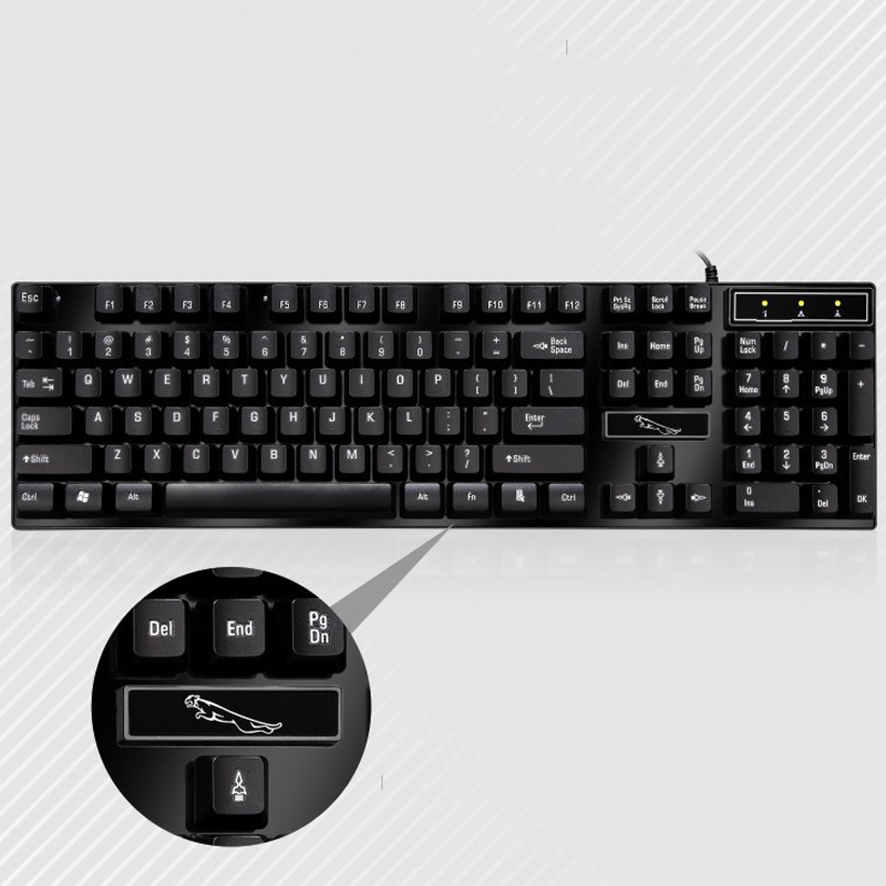 PARASOLANT Household Corporate Office Computer USB Wired Laptop Keyboard & Mouse Keyboard And Mouse Sets Cheap Sale White