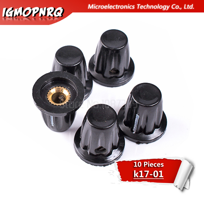 10pcs Bakelite Potentiometer Knob K17-01 WXD3-13-2W WH3-13 WH3-12 Knob WH5 15*17MM Hole Dia 4MM