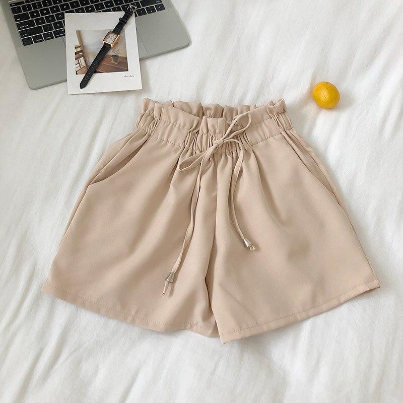 Solid color kawai shorts0