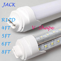 X25 T8 LED Tube Light R17d 8ft 6FT 5FT 4FT 1.2M-2.4m LED V Shape Double Glow Light For cooler door 4000LM LIGHTS AC85-265V