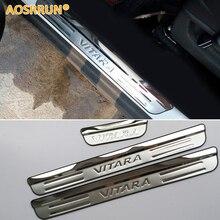 Aosrrun из нержавеющей стали порога Накладка на педали автомобиля Аксессуары автомобиль-Стайлинг для Suzuki Vitara 2015 2016 4Gen