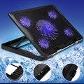5 ファン LED USB 冷却調整可能な用 7-17 インチノート Pc の Usb 用のパッドスタンド pc 用のクーラー + USB コード