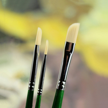 3Pcs Oblique Head Watercolor Paint Brush Set Nylon Hair Artistic Thin Painting Brushes For Acrylic Art Oil Paintbrush Hook Line 6pcs set watercolor brush weasel hair aquarelle paintbrush wooden handle artist paint brushes diamond shape hook line pen