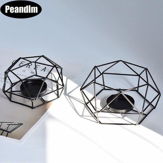 Peandim Geometry Small Tealight Candle Holders Tabletop Aritist ...