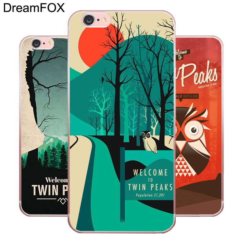 DREAMFOX L406 Welcome To Twin Peaks Soft TPU Silicone Case Cover For Apple iPhone 8 X 7 6 6S Plus 5 5S SE 5C 4 4S