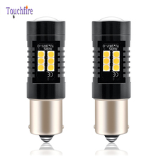 2PCS P21W 1156 BA15S 1157 BA15D Canbus LED Car Bulb 1600Lm Reverse Turn Signal Day Light 3030SMD for Volvo S40/Mercedes C200