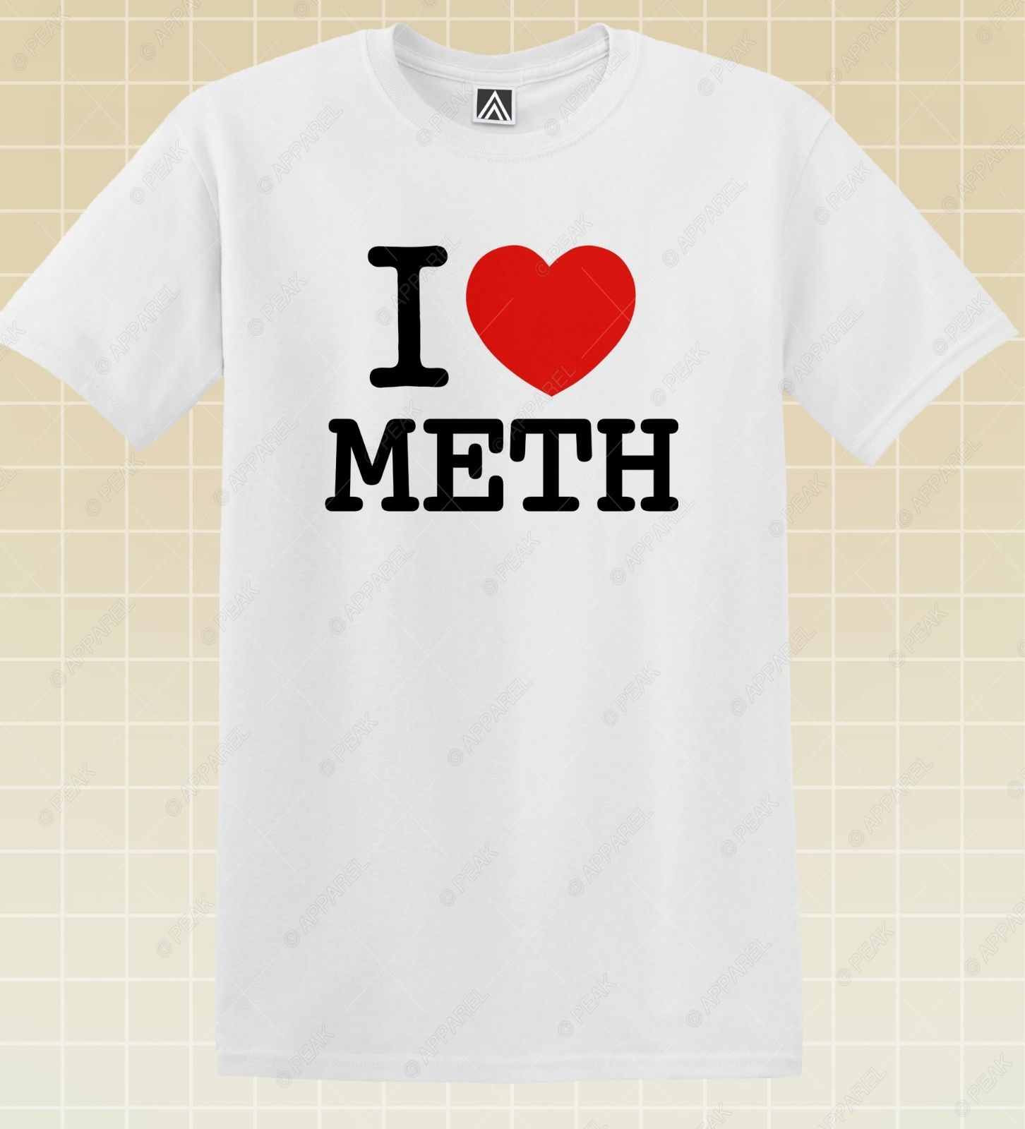 <font><b>I</b></font> <font><b>Love</b></font> Meth T-<font><b>shirt</b></font> <font><b>NY</b></font> Funny Drugs Tee LSD High Crystals Novelty Party Top custom printed tshirt,hip hop funny tee,2019 hot tees image