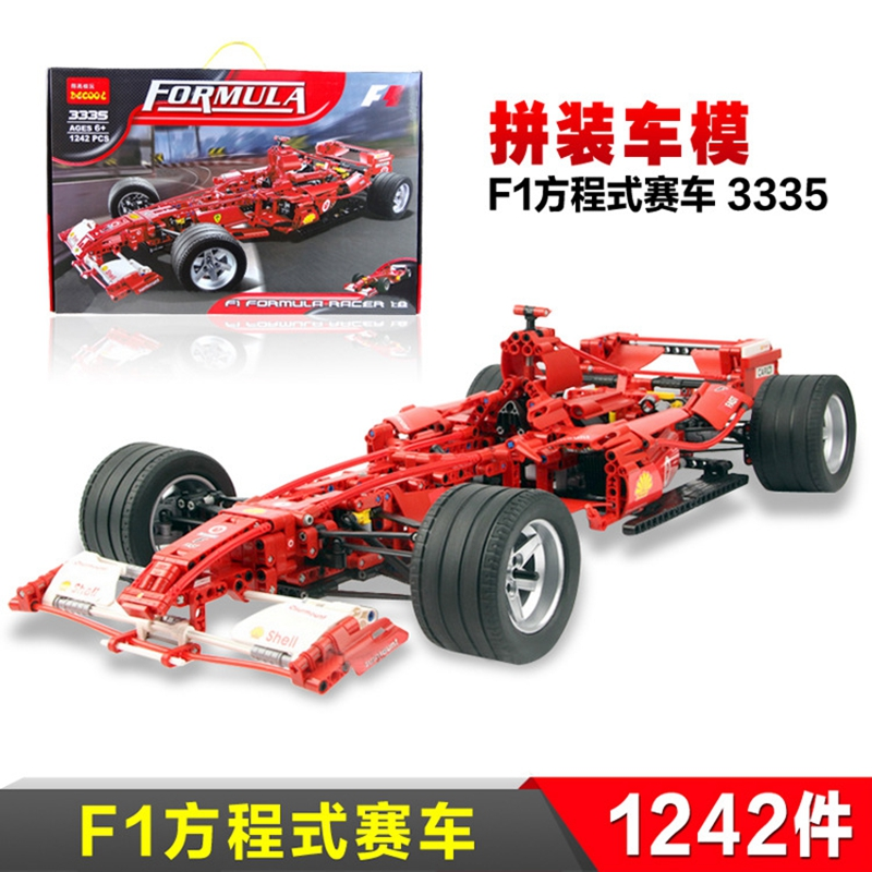 Formula Racing Car 1:8 Model Building Blocks Sets 1242pcs Legoland Educational DIY Bricks Toys Children's Gift For Christmas xipoo 6 in 1 blue military ship diy model building blocks bricks sets educational gift toys for children boy friends