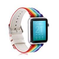 New Woven Nylon Casual Sports Men Women Watch Band For Apple Watch Iwatch Strap Wrist Bracelet