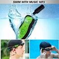 Natación Reproductor de MP3 A Prueba de agua 2016 NUEVA Swim Reproductores Multimedia Reproductor de MP3 Auriculares de Música Chip de Agua Buceo Deporte Reproductor de MP3