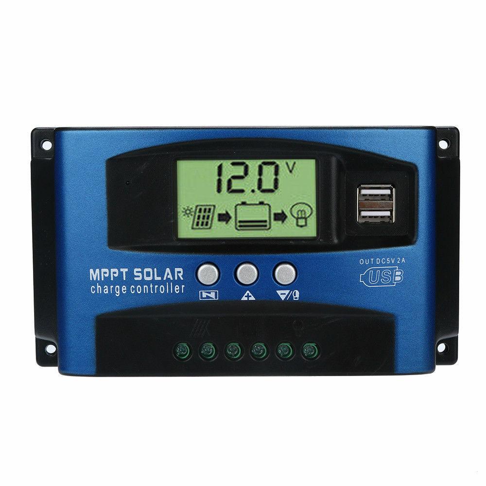 100A регулятор MPPT Контроллер заряда солнечной панели 12В/24В отслеживание автофокуса