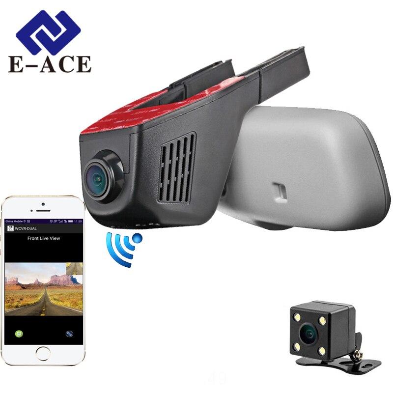 E ACE Car Dvr WIFI DVRs Dual Camera Lens Registrator Hidden Dashcam Digital Video Recorder Camcorder