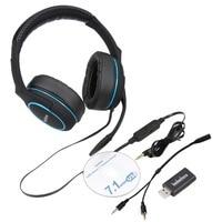Badasheng 7.1 Surround Ses kanal USB Gaming Headset Mic ile Kablolu Kulaklık Kulaklık Ses Kontrolü Gürültü 5-in-1