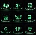 Kpop BIGBANG яркие мужчины и женщины шапка бейсболка плоская крышка шляпу хип-хоп флуоресцентные светящиеся шляпа плоские шапки k-pop