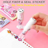 Creative Cute Seal Labels Hole Puncher S Hole Fixer Sealing Sticker Decorative Diary Planner Calendar Stickers