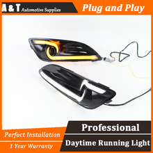 A&T car styling For Ford Fiesta LED DRL For Fiesta led fog lamps daytime running light High brightness guide LED DRL