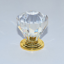 10pcs free shipping 32mm Zinc Alloy Clear Crystal Sparkle Glass Kitchen Cabinet Knobs Handles Dresser Cupboard
