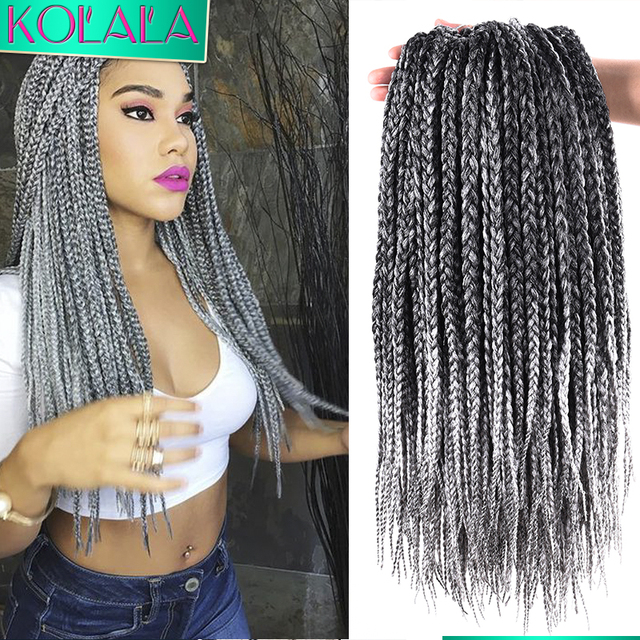 18 inch Ombre Crochet Box Braids 24 Roots Micro box - Full Curly Weave Hairstyles