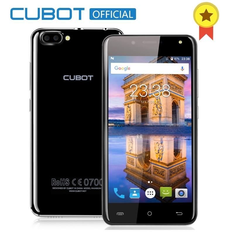 Arco Iris 2 5.0 Pulgadas MTK6580A CUBOT Quad Core Smartphone 1 GB RAM 16 GB ROM