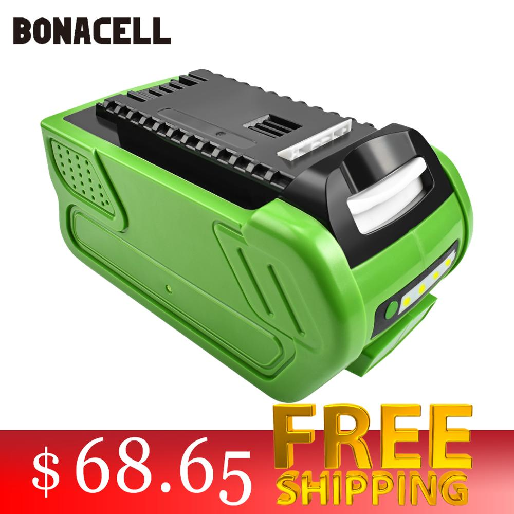 bonacell 40V 6000mAh Rechargeable Replacement Battery for Creabest 40V 200W GreenWorks 29462 29472 22272 G-MAX GMAX L30bonacell 40V 6000mAh Rechargeable Replacement Battery for Creabest 40V 200W GreenWorks 29462 29472 22272 G-MAX GMAX L30