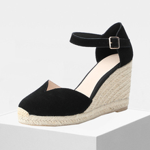 2019 new arrivel women wedge espadrilles,90mm heel height sandals
