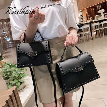 PVC hard rivet female handbags 2019 new black red green candy color young girls single shoulder bags brand women crossbody bags - DISCOUNT ITEM  33% OFF All Category