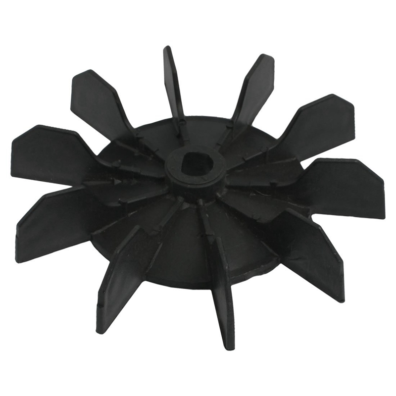 Replacement 0.5 Inner Bore 10 Impeller Air Compressor Motor Fan Blade Black image