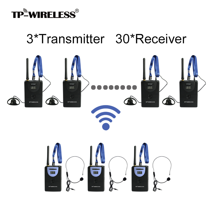 TP-Wireless 2,4 GHz Digital Wireless Tour Guide System - Tragbares Audio und Video - Foto 1