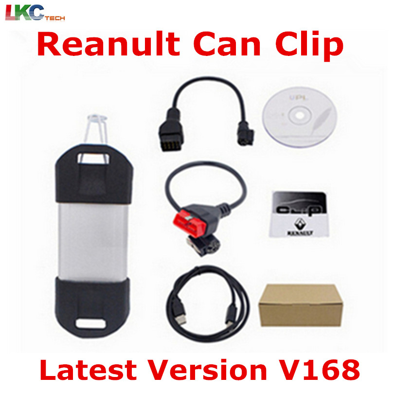Best Price Can Clip Re--nault V168 Diagnostic Scanner High Performance Auto Car OBD2 Newly V146 For Re--nault best car tuning version vida dice 2014d for professional diagnostic scanner multi language warranty quality and free ship