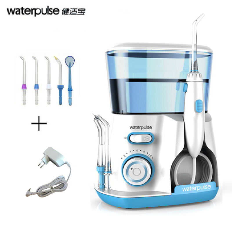 Waterpulse Oral Irrigator Dental Flosser 800ml Water Flosser Irrigator Dental Floss Water Floss Dental Water Oral Irrigation sonifox new professional oral irrigator dental floss care electric water flosser irrigation hygiene teeth cleaning tool