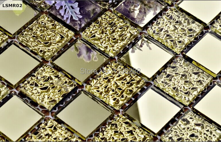 Popular gold glass tile buy cheap gold glass tile lots from china ...