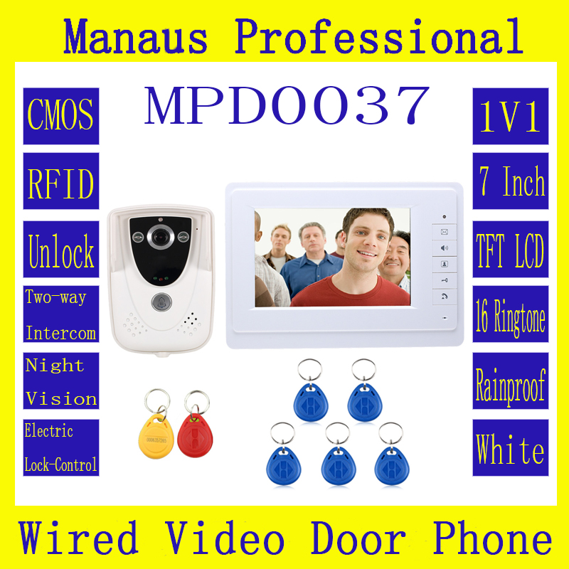 High Quality 7 Inch Video Door Phone Doorbell Intercom Kit 1-camera 2-monitor Night Vision D37C new original ifs204 door proximity switch high quality