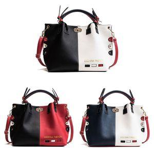 Image 1 - Mode Frauen Leder Schulter Tasche Tote Geldbörse Crossbody Messenger Handtasche Top Griff Taschen