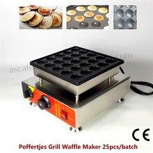 Elektrik Poffertjes Grill 25 adet Hollanda Mini Gözleme Makinesi Waffle Baker Yapışmaz Tava