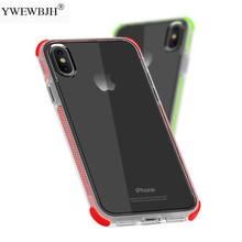 YWEWBJH Luxury Shockproof Four Corners TPU Sofe Case For iPhone X XS XR Max 8 7 6 6S Plus  Anti-Drop Back Cover