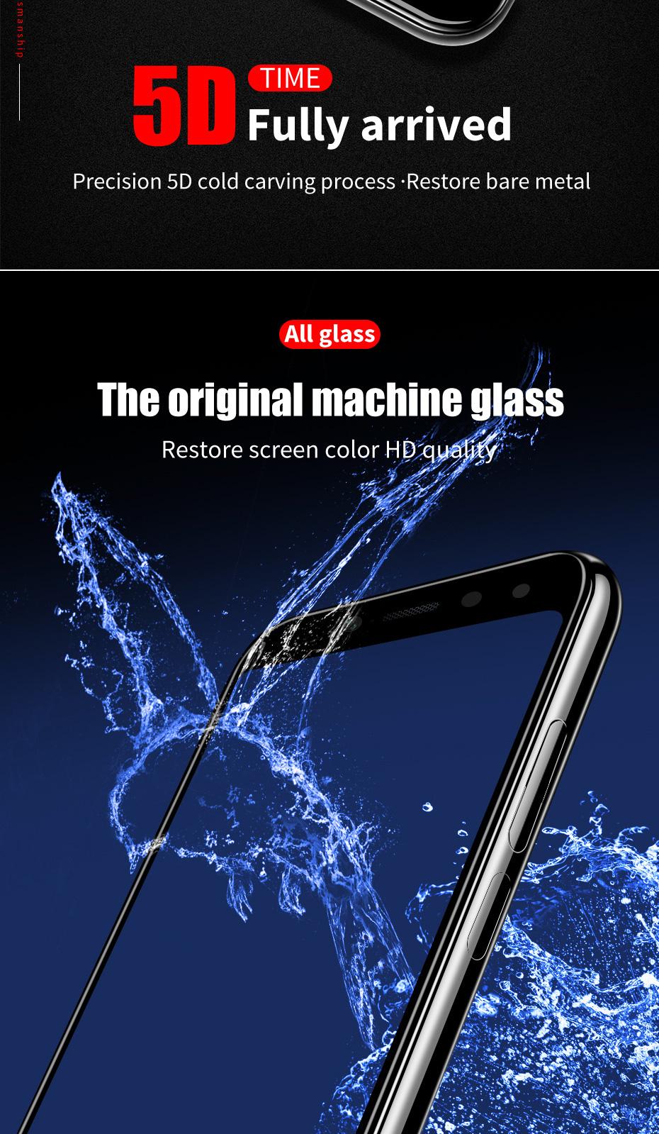ZNP 5D Screen Protector Tempered Glass For Xiaomi Redmi Note 7 5 Pro Redmi 4X 7A 7 6 Protective Glass For Redmi 5 Plus k20 Film 6