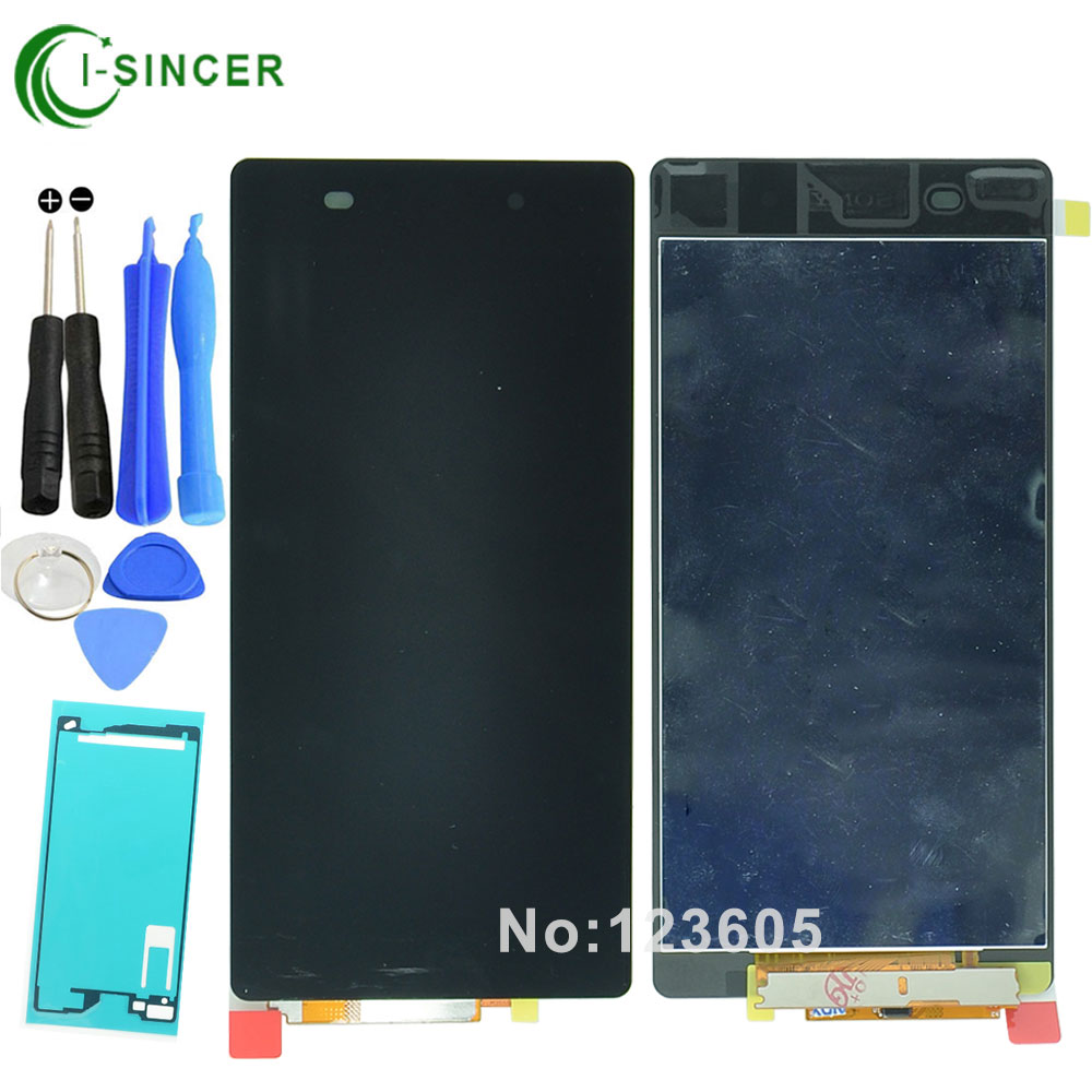 1/PCS LCD Display For Sony Xperia Z2 L50W D6503 Digitizer Touch Screen Assembly + Adhesive sticker Free shipping