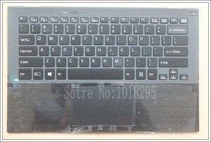 Image 1 - Clavier dordinateur portable us pour Sony Vaio Pro13 SVP13 SVP132 SVP13A SVP1321M2EB SVP1322M1EB SVP132A1CM rétroéclairé pavé tactile Palmrest Cas