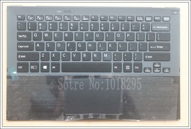 Clavier dordinateur portable us pour Sony Vaio Pro13 SVP13 SVP132 SVP13A SVP1321M2EB SVP1322M1EB SVP132A1CM rétroéclairé pavé tactile Palmrest Cas