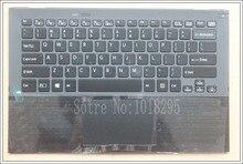 US tastiera Del Computer Portatile per Sony Vaio Vgn Pro13 SVP13 SVP132 SVP13A SVP1321M2EB SVP1322M1EB SVP132A1CM retroilluminato touchpad Palmrest Case